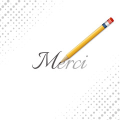 Thank you word in france language (merci)