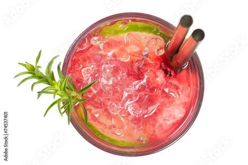 Foto op Canvas Cocktail Juice Top View