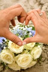 Hochzeitskarte - Liebesherz