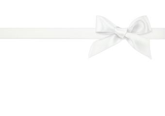 white ribbon on white background