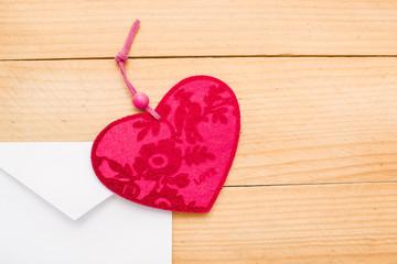 valentine heart in an envelope