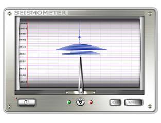Seismometer, freigestellt