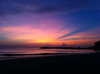 Sunset at huahin beach Thailand