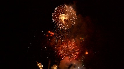 Magnificent colorful fireworks