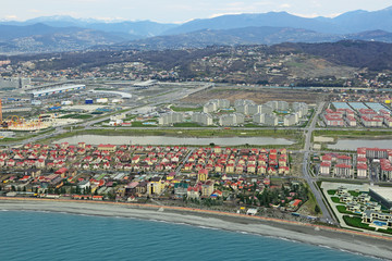 Imeretinsky Valley, Sochi cityscape, top view