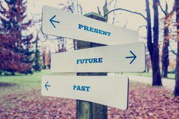 Present, Future and Past Concept