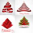 christmas background set illustration