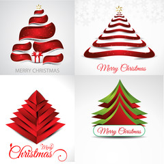 christmas background set illustration