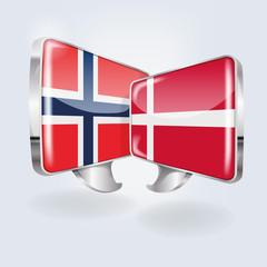 Sprechblasen in norwegisch und dänisch
