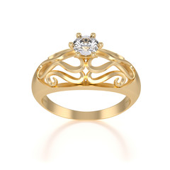 nice gold ring with diamond