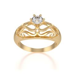 nice gold ring with diamond