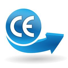 ce conformité européenne sur bouton web bleu