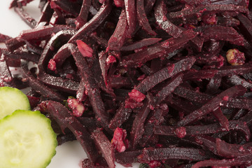 grated beetroot