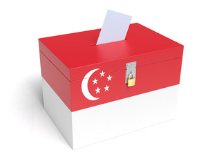 Singaporean Flag Ballot Box