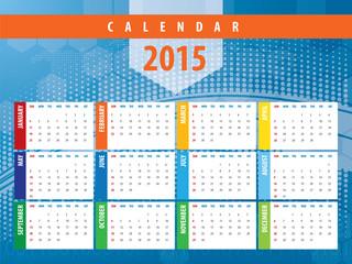 Calendar 2015 futuristic technology