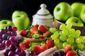 still life of mix fruits