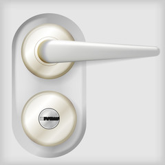 Illustration of door handle.