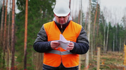 Forest engineer destroying sensitive documents