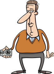 man and hidden camera cartoon