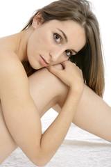 Frau bei Wellness und Entspannung