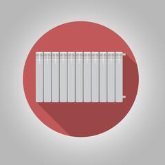 Flat icon for heating radiator