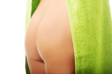 Close up on woman buttock