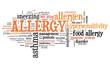 Allergy - word cloud concept