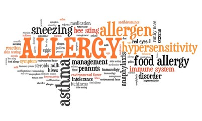 Allergy - word cloud concept