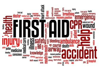 First aid CPR - word cloud concept