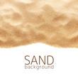 Leinwanddruck Bild - The sand scattering isolated on white background