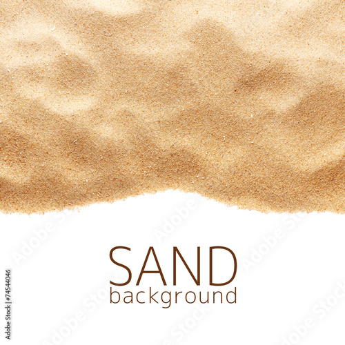 Foto op Plexiglas Zandwoestijn The sand scattering isolated on white background