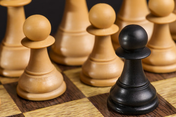 Some Chess Wooden Pieces