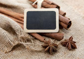 tableau noir sur arômes vanille anis
