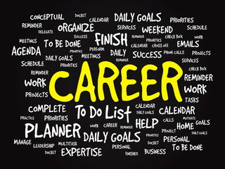 Word cloud of CAREER related items, vector presentation