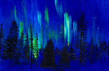 Twilight and northern lights