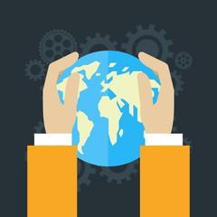 Global economics concept