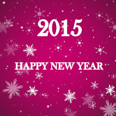 Happy New Year 2015 celebration flyer, banner, poster or