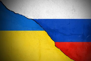 Riss zwischen der Ukraine und Russland
