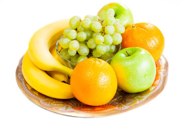 Fruits on a dish