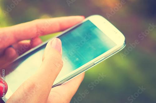 Leinwanddruck Bild Mobile phone
