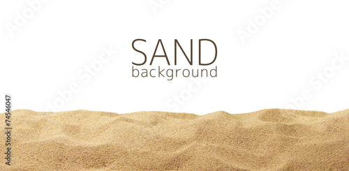 Leinwandbild Motiv The sand scattering isolated on white background
