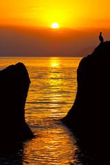 Evening scene on sea