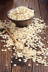 Uncooked oatmeal