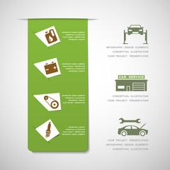 Car service design elements