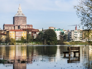 Flood of Ticino river in Pavia