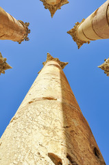 Columns in Jerash ruins, Jordan