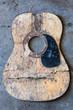 Broken acoustic guitar - 74547229