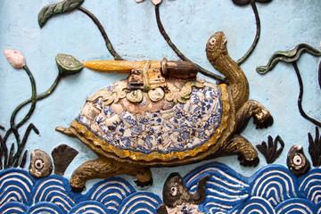 Relieve de una tortuga. Hanoi. Vietnam