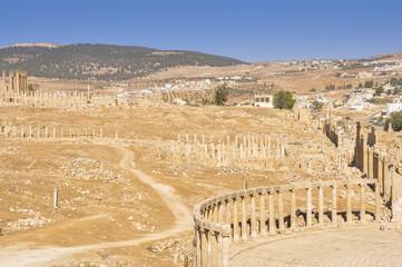 Panoramic view of Jerash ruins (Jordan)