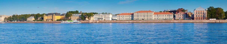 Vasilyevsky Island in summer day